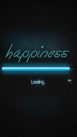 Обои на телефон счастье, цитата, поговорка, новый, неоновые, крутые, знаки, загрузка, жизнь, live