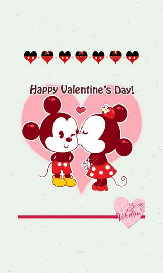 Обои на телефон минни, микки, маус, любовь, день, валентинки, love
