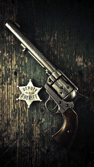 Обои на телефон значок, оружие, sheriff badge