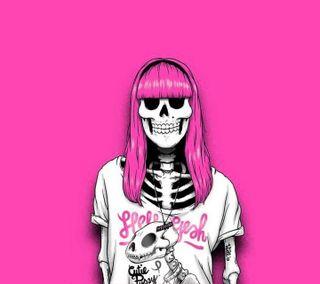 Обои на телефон сумасшедшие, череп, хипстер, темные, последние, новый, девушки, hipster girl, hallowin