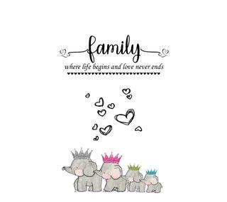Обои на телефон слоны, семья, сердце, навсегда, любовь, love