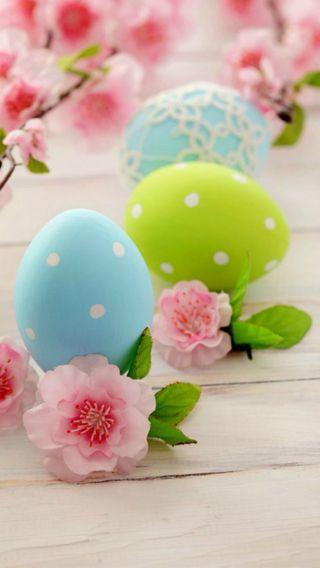 Обои на телефон яйца, пасхальные, цветы, каникулы