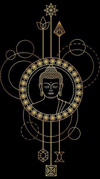 Обои на телефон дзен, золотые, дизайн, высказывания, будда, арт, абстрактные, art
