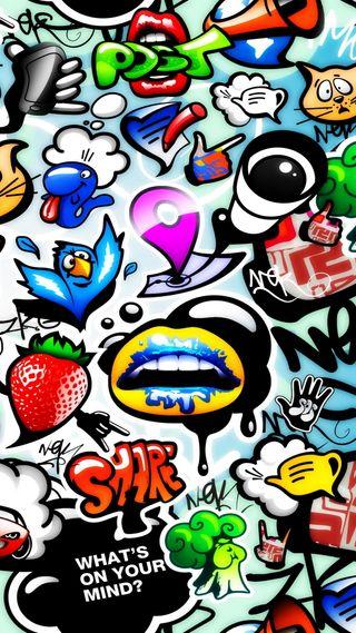 Обои на телефон граффити, мультфильмы, комиксы, арт, art