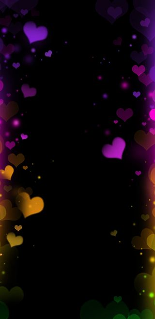 Обои на телефон девчачие, симпатичные, сердце, светящиеся, ночь, неоновые, красочные, neonnighthearts
