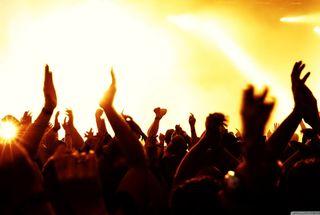 Обои на телефон вечеринка, фан, руки, приятные, огни, люди, концерт, дизайн, hands up