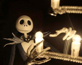 Обои на телефон скелет, страшные, рождество, перед, кошмар, джек, skellington, jack skelington