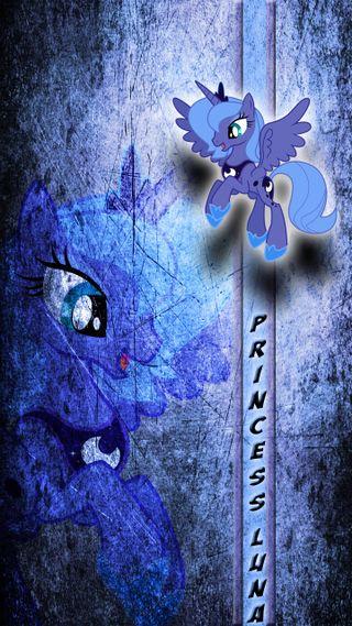 Обои на телефон пони, фиолетовые, принцесса, мой, маленький, луна, единорог, девушки