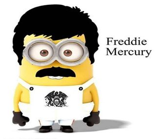 Обои на телефон певец, миньоны, королева, freddie mercury
