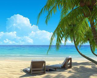 Обои на телефон лето, пляж, берег