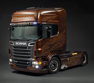 Обои на телефон швеция, черные, грузовики, scania, amber