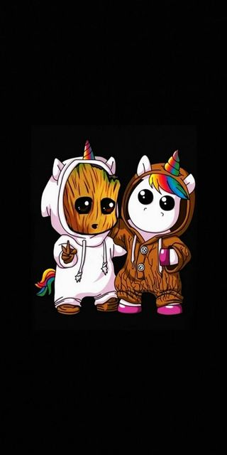 Обои на телефон единорог, грут, the unicorn groot