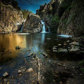 Обои на телефон водопад, озеро, лес, big lake