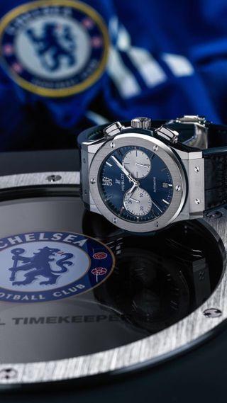 Обои на телефон челси, часы, клуб, футбол, синие, металл, логотипы, hublot