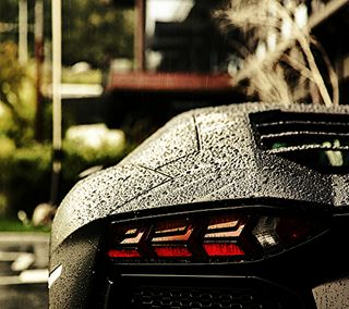 Обои на телефон мокрые, машины, ламборгини, авентадор, wet car, lamborghini, aventador