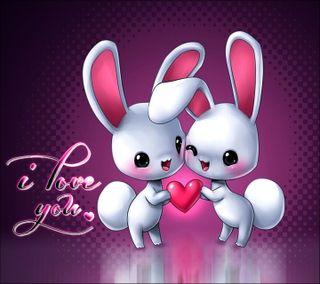 Обои на телефон флирт, ты, приятные, новый, милые, любовь, rabbits, love, i love you