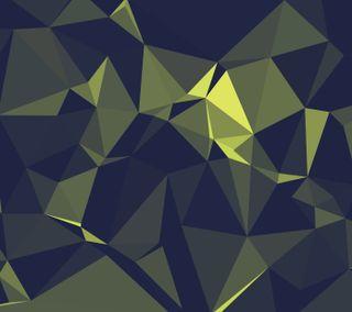 Обои на телефон темные, зеленые, галактика, абстрактные, green polygons, galaxy, darkdroid
