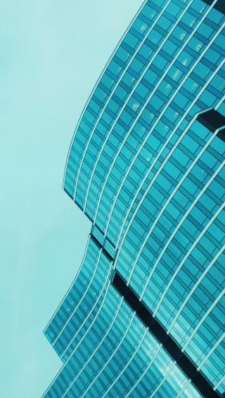 Обои на телефон геометрия, стекло, синие, простые, линии, архитектура, fancy facade, facade