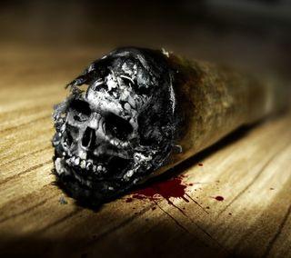 Обои на телефон кровь, череп, smocking kills, smock