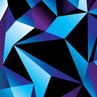 Обои на телефон многоугольник, шаблон, фиолетовые, абстрактные, purple polygon