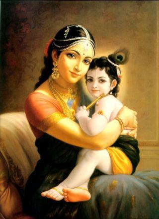 Обои на телефон кришна, yashoda, bala krishna