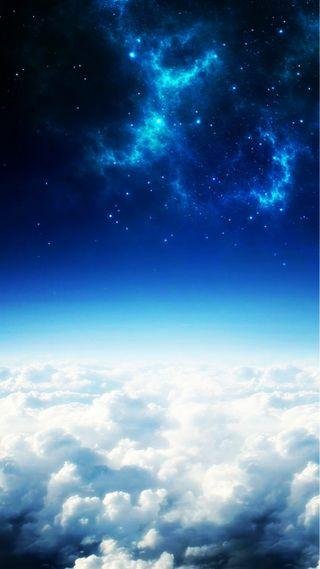 Обои на телефон облачно, облака, небо, звезды