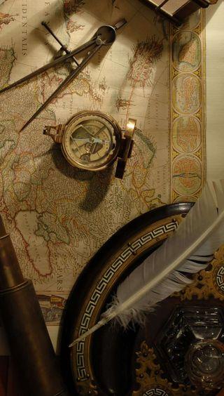 Обои на телефон карта, старые, old times, kompas