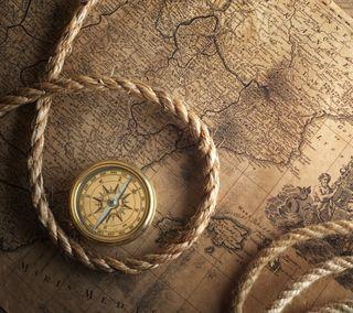 Обои на телефон поездка, пираты, мир, компас, карта, веревка, navigator 1, navigation, gps