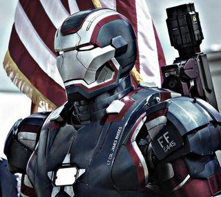 Обои на телефон серебряные, патриот, железный, iron patriot