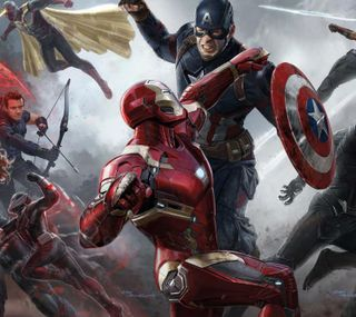 Обои на телефон против, капитан, железный, война, америка, captain vs iron man