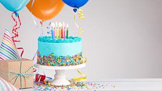 Обои на телефон торт, синие, день, белые, hd, birth day cake