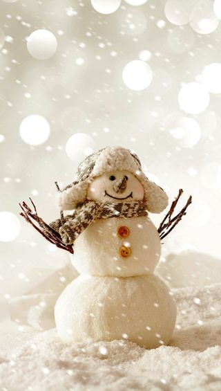 Обои на телефон снеговик, милые, белые