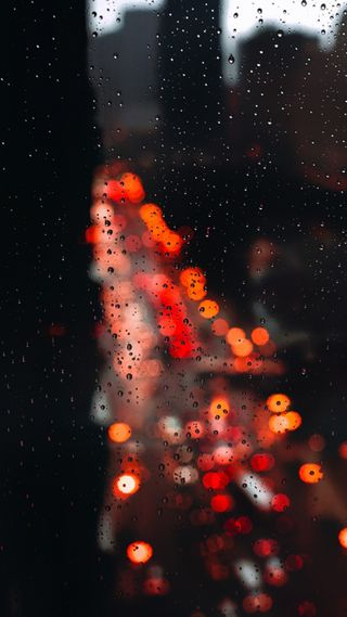Обои на телефон день, свет, природа, оранжевые, капли, дождь, боке, арт, s7, art