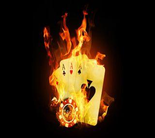 Обои на телефон карты, огонь, hd