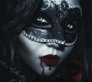 Обои на телефон маска, темные, кровь, вампиры