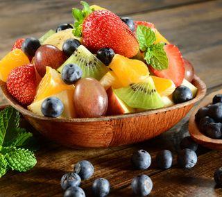 Обои на телефон фрукты, salad