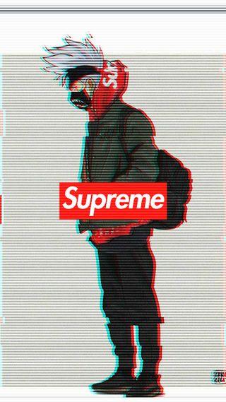 Обои на телефон наруто, логотипы, какаши, аниме, supreme, hypebeast