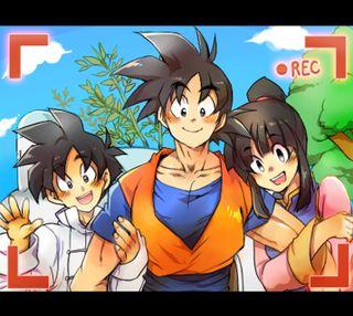 Обои на телефон гохан, семья, мяч, дракон, гоку, аниме, son family, dragon ball z, chichi