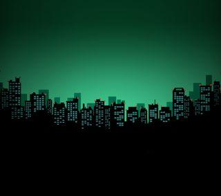Обои на телефон призрак, минимализм, город, ghost city