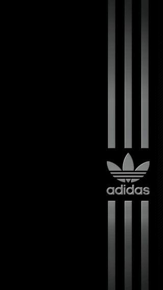 Обои на телефон серебряные, черные, адидас, adidas