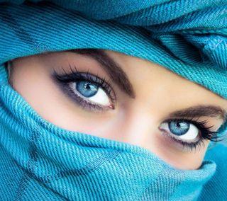 Обои на телефон анонимус, синие, прекрасные, милые, маска, девушки, глаза, арабские, unknown, scarf