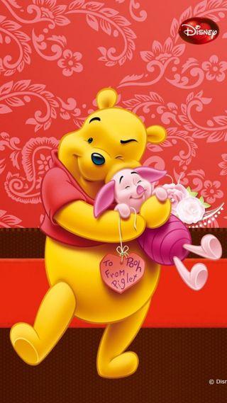 Обои на телефон пух, счастливые, мультики, poohbear, pooh piglet 1, happy