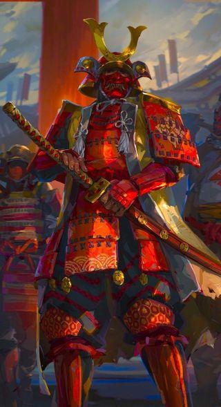 Обои на телефон японские, самурай