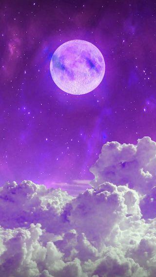 Обои на телефон планеты, фиолетовые, университет, планета, луна, вселенная, salvation, full