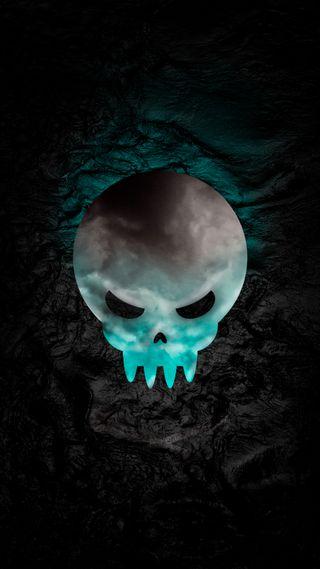 Обои на телефон ужасные, черные, череп, ужасы, темные, страшные, синие, пираты, крутые, кости, hd