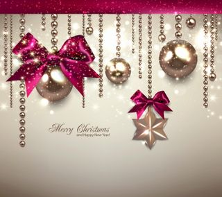 Обои на телефон лук, шары, украшение, счастливое, рождество, новый