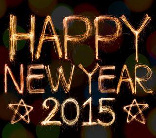 Обои на телефон счастливые, новый, золотые, год, абстрактные, happy, 2015