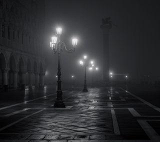 Обои на телефон огни, ночь, дорога, город