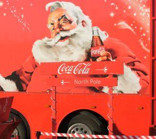 Обои на телефон кола, грузовик, санта, рождество, коко, santa coco cola, lorry, coco cola