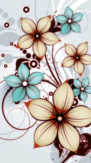 Обои на телефон шаблон, цветы, fleurs